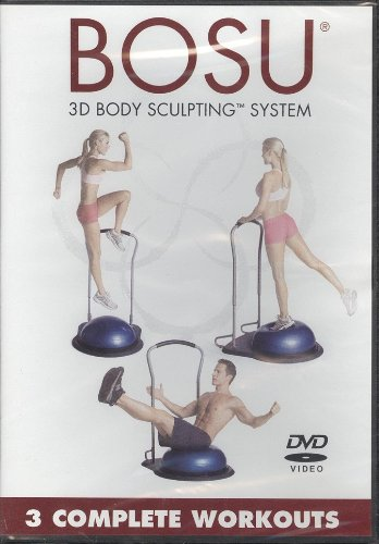 Bosu 3D Body Sculpting System 3 Complete Workouts: Cardio Bounce Express, Total Body Blast, Lower Body Blitz 3-D DVD Image