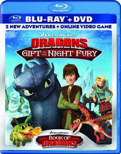 DreamWorks Dragons: Gift of the Night Fury / Book of Dragons Double Pack (Two-Disc Blu-ray/DVD Combo + Online Video Game) DVD Image
