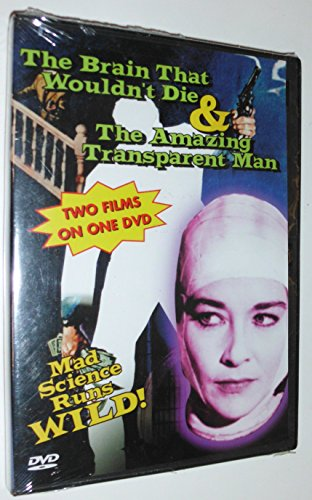 The Brain That Wouldn't Die/Amazing Transparent Man DVD Image