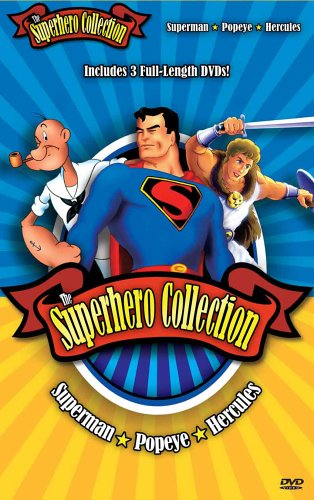 Superhero Collection: Superman Vs. Nature & War / Popeye The Sailor: When Popeye Ruled The World / Hercules DVD Image