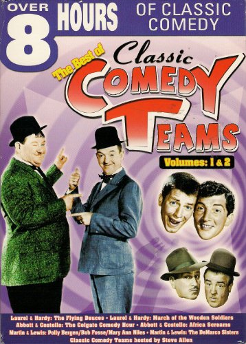 Best Of Classic Comedy Teams, Vol. 1 & 2: Laurel & Hardy / Abbott & Costello / Martin And Lewis / ... DVD Image