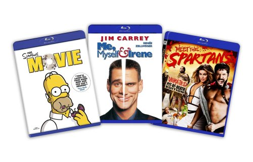 Blu-ray Comedy Bundle (Blu-ray/ Amazon Exclusive), Vol. 1: Simpsons Movie / Me, Myself & Irene / Meet The Spartans DVD Image