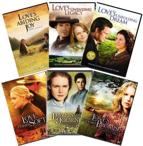 Janette Oke the Love Comes Softly Series: (Set of 6 DVDs) Love Comes Softly; Love's Enduring Promise; Love's Long Journey; Love's Abiding Joy; Love's Unending Legacy; Love's Unfolding Dream DVD Image