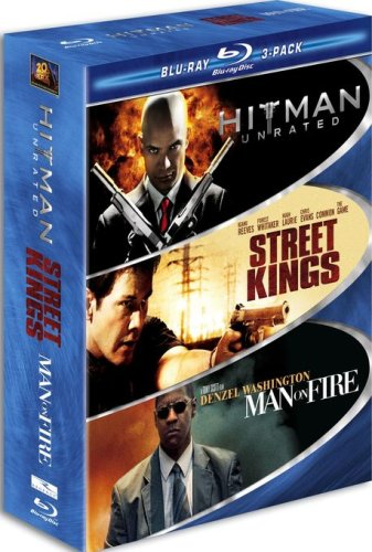 Hard Action 3-Pack (Blu-ray): Hitman (2007/ Unrated Version) / Street Kings / Man On Fire DVD Image