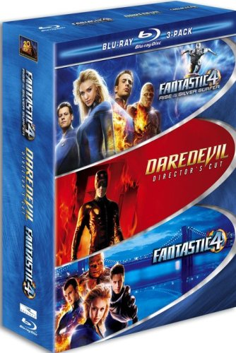 Marvel Blu-ray 3-Pack (Fantastic Four / Fantastic Four - Rise of the Silver Surfer / Daredevil) [Blu-ray] DVD Image