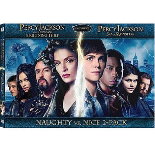 PERCY JACKSON Naughty VS. Nice 2-pack DVD Set (Both DVD Movies Togther - Lightning Thief and Sea of Monster) Logan Lerman DVD Image