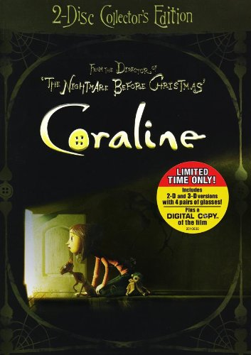 Coraline (Deluxe Two-Disc Collector's Edition with Exclusive Bonus Content + Digital Copy & 3D) DVD Image