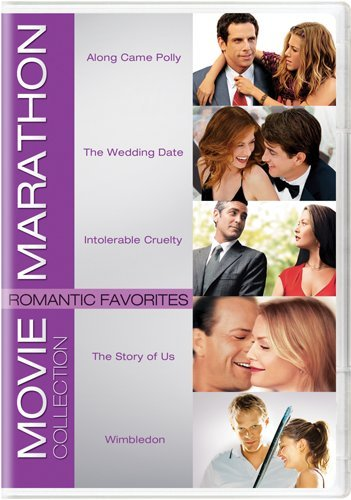 Movie Marathon Collection: Romantic Favorites (Along Came Polly / The Wedding Date / Intolerable Cruelty / The Story of Us / Wimbledon) DVD Image