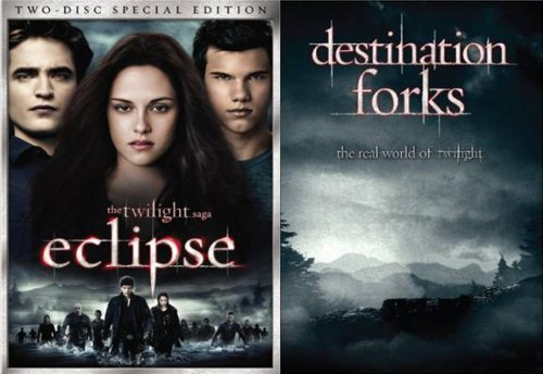 The Twilight Saga: Eclipse - Two Disc / Destination Forks: Real World of Twilight (2-Pack) DVD Image