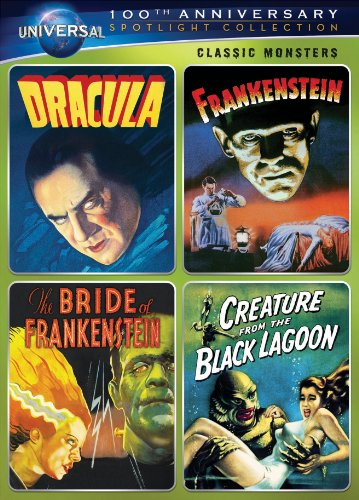 Classic Monsters Spotlight Collection [Dracula, Frankenstein, The Bride of Frankenstein, Creature from Black Lagoon] (Universal's 100th Anniversary) DVD Image