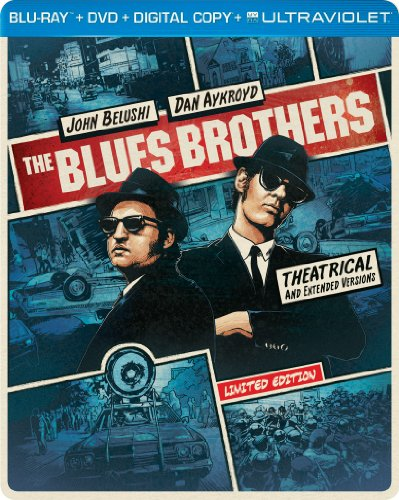 The Blues Brothers (Steelbook) (Blu-ray + DVD + DIGITAL with UltraViolet) DVD Image
