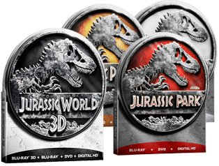 JURASSIC PARK Tin Collection (with JURASSIC WORLD in 3D) 1 2 3 4 Lost World (Blu-ray Tin Edition) [Region-Free Limited Edition] DVD Image