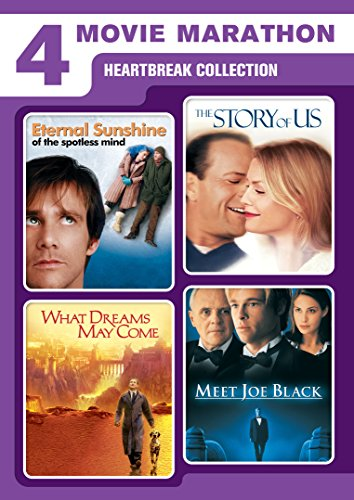 4 Movie Marathon: Heartbreak Collection (Eternal Sunshine of the Spotless Mind / What Dreams May Come / Meet Joe Black / The Story of Us) DVD Image