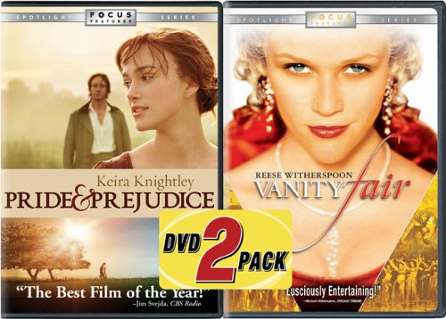 Pride & Prejudice (2005/ Widescreen) / Vanity Fair (2004/ Special Edition/ Widescreen) (Back-To-Back) DVD Image