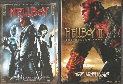 Hellboy 1 and 2 (both movies) DVD Image