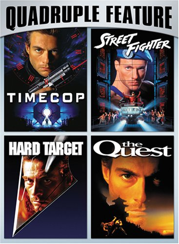 Van Damme Action Pack Quadruple Feature (Timecop / Hard Target / Street Fighter / The Quest) DVD Image