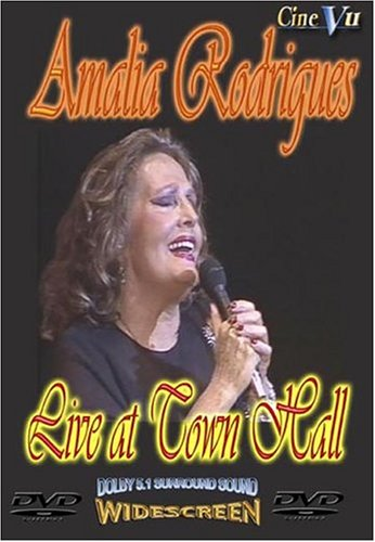 Amalia Rodrigues: Live At Town Hall DVD Image
