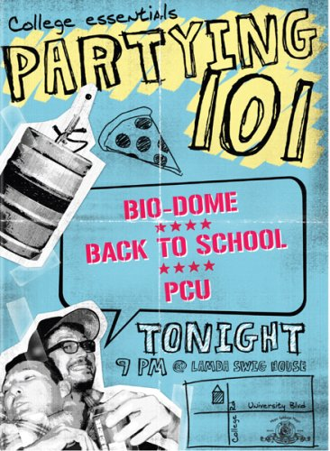 Partying 101 (Bio Dome / P.C.U. / Back to School) DVD Image