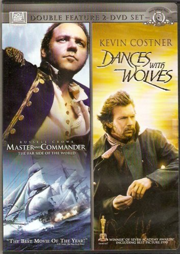 Fox Double Feature Set: Master and Commander The Far Side Of The World and Dancing With Wolves DVD Image