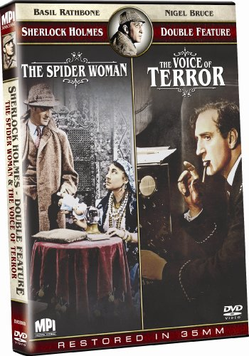 Sherlock Holmes Double Feature: The Spider Woman/Sherlock Holmes and the Voice of Terror DVD Image