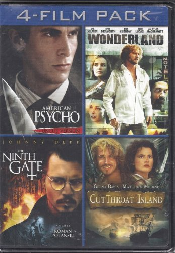 American Psycho/Wonderland/The Ninth Gate/CutThroat Island 4-Film Pack DVD Image