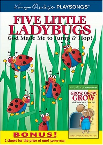 Five Little Ladybugs: God Made Me To Jump & Hop! / Grow, Grow, Grow: God Made Me To Grow Up! DVD Image