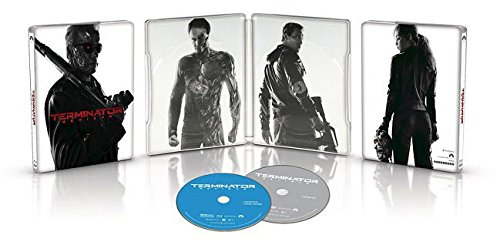 Terminator Genysis Exclusive Limited Edition Steelbook (Blu Ray + DVD + Digital HD) DVD Image