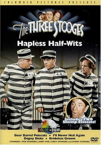 Three Stooges: Hapless Half-Wits: Beer Barrel Polecats / I'll Never Heil Again / Brideless Grooms / Dopey Dicks DVD Image