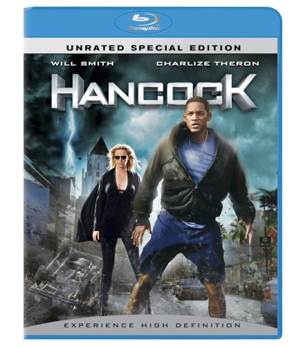 Hancock (PG-13 Version/ Unrated Version/ Blu-ray/ 2-Disc w/ Digital Copy) DVD Image