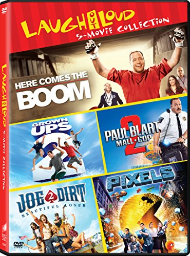 Grown Ups 2 / Here Comes the Boom / Joe Dirt 2: Beautiful Loser / Paul Blart: Mall Cop 2 / Pixels - Set DVD Image
