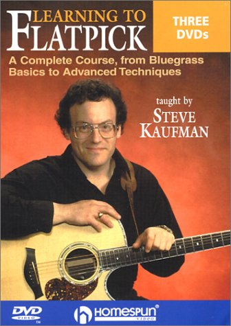 Learning To Flatpick (3-Disc): A Complete Course, From Bluegrass Basics To Advanced Techniques: Taught By Steve Kaufman DVD Image