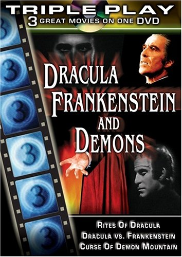 Dracula, Frankenstein, And Demons: Rites Of Dracula / Dracula Vs. Frankenstein / Curse Of Demon Mountain DVD Image
