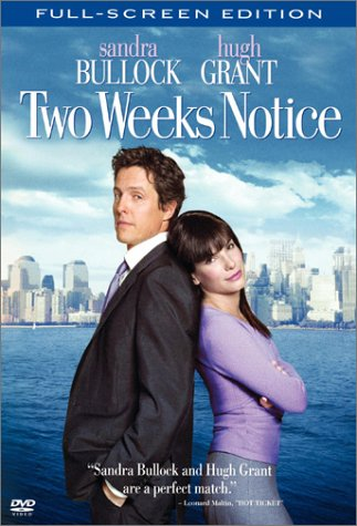 Two Weeks Notice (Special Edition/ Pan & Scan) DVD Image