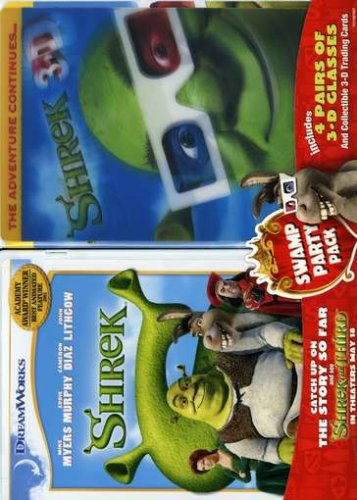 Shrek (Special Edition/ Pan & Scan) / Shrek 3-D: Party In The Swamp (Pan & Scan) (Side-By-Side) DVD Image