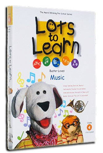 Lots To Learn Preschool Videos: Buster Loves Music DVD Image