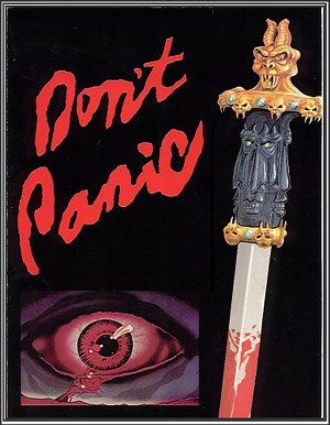 Don't Panic (DVD) THRILLER (1989) Run Time: 90 Minutes ~ Starring: Jon Michael Bischof & Gabriela Hassell ~ Director: Ruben Galindo DVD Image