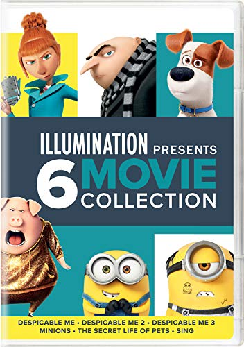 Illumination Presents: 6-Movie Collection (Despicable Me / Despicable Me 2 / Despicable Me 3 / Minions / The Secret Life of Pets / Sing) DVD Image