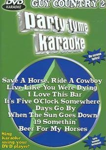 Party Tyme Karaoke: Guy Country 2 DVD Image