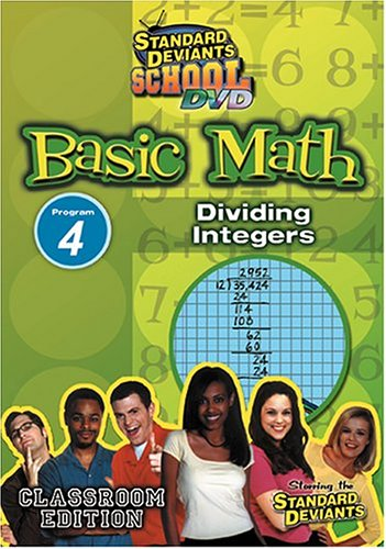 Standard Deviants: Basic Math 04: Dividing Integers DVD Image