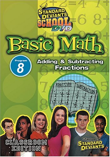 Standard Deviants: Basic Math 08: Adding And Subtracting Fractions DVD Image