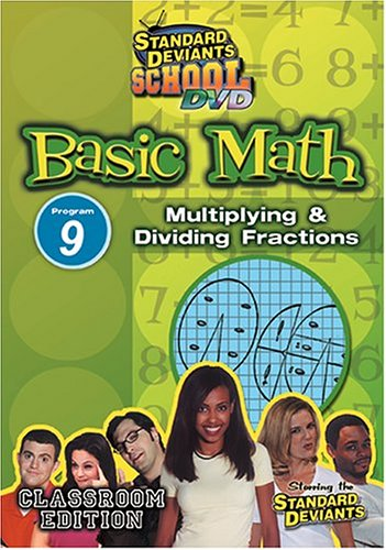 Standard Deviants: Basic Math 09: Multiplying And Dividing Fractions DVD Image