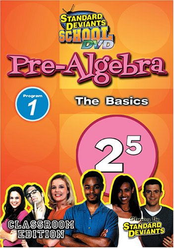 Standard Deviants: Pre-Algebra, Modules 1: The Basics DVD Image