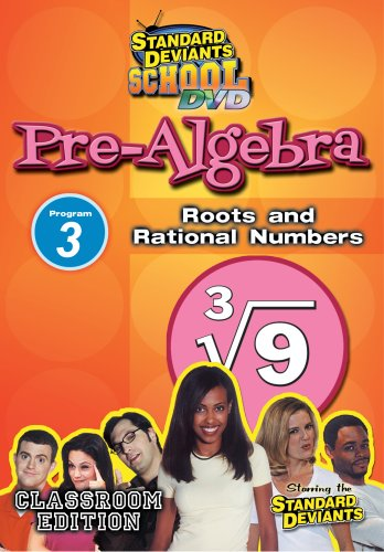 Standard Deviants: Pre-Algebra, Modules 3: Roots And Rational Numbers DVD Image