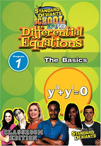 Standard Deviants: Differential Equations, Module 1: The Basics DVD Image