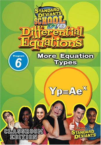 Standard Deviants: Differential Equations, Module 6: More Equation Types DVD Image