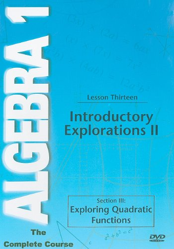 Algebra 1: Introductory Explorations 2 DVD Image