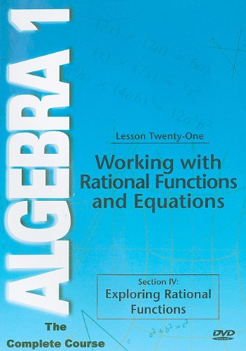 Algebra 1: Working With Rational Functions And Equations DVD Image