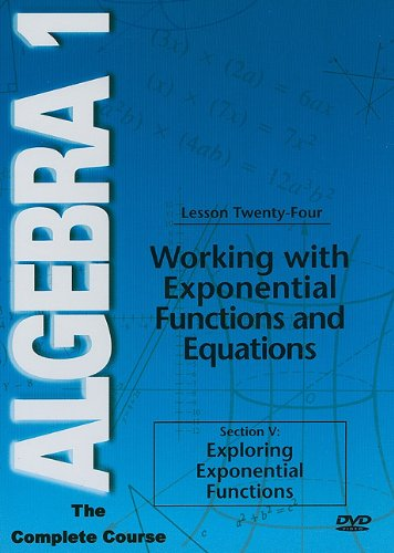 Algebra 1: Working With Exponential Functions And Equations DVD Image
