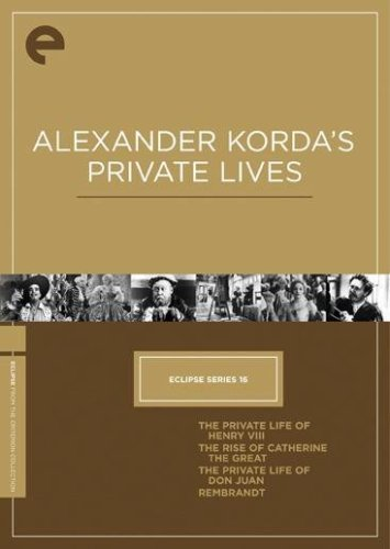 Alexander Korda's Private Lives: Private Life Of Henry VIII / Rise Of Catherine The Great / Private Life Of Don Juan / Rembrandt DVD Image