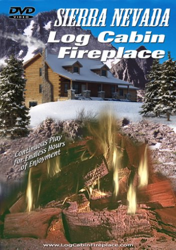Sierra Nevada Log Cabin Fireplace DVD Image